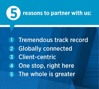 5 reasons to partner with us