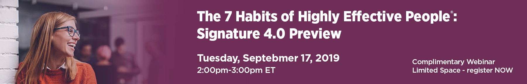 register for the 7 Habits preview webinar